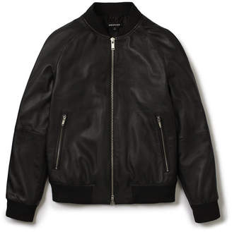 Whistles Leather Bomber
