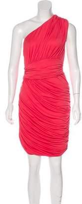 Halston One-Shoulder Knee-Length Dress