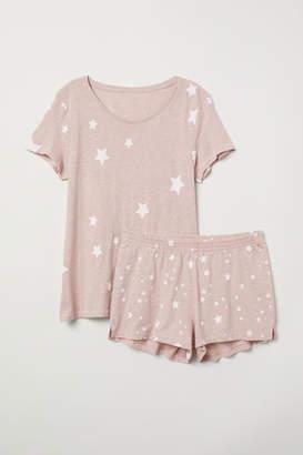 H&M Pajama Top and Shorts - Orange