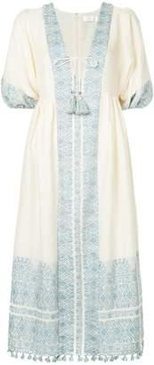 Zimmermann floral bordered midi dress