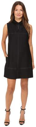 Just Cavalli Studded Shift with Eco-Leather Collar Women's Dress