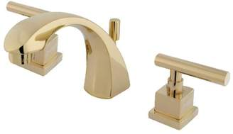 Kingston Brass Claremont Widespread Bathroom Faucet with Brass Pop-Up Drain