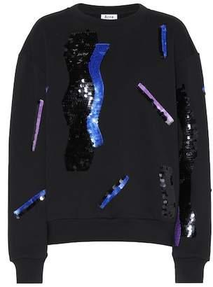 Acne Studios Roni sequinned cotton sweatshirt