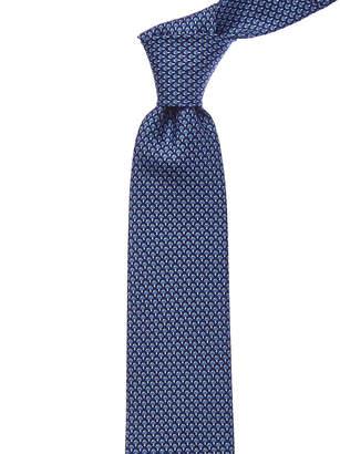 Salvatore Ferragamo Blue Mushroom Silk Tie
