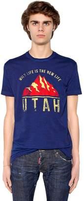 DSQUARED2 Utah Printed Cotton Jersey T-Shirt