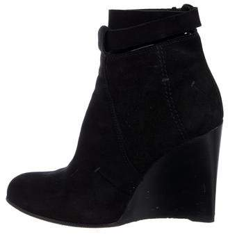 CNC Costume National Suede Wedge Ankle Boots