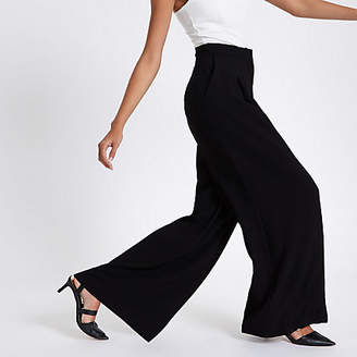 River Island Black high waisted wide leg pants