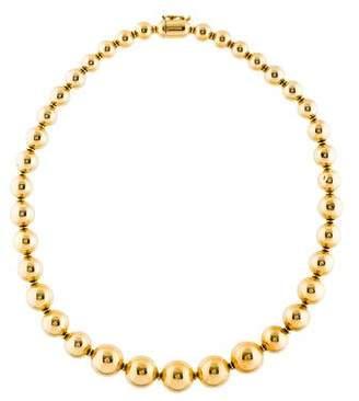 18K Graduated Ball Bead Necklace