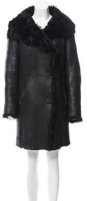 Joseph Knee-Length Shearling Coat