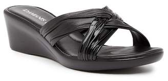 Italian Shoemakers Contrast Wedge Sandal