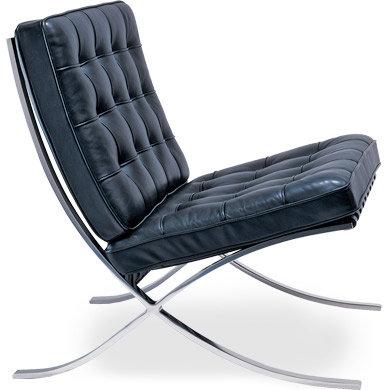 Knoll barcelona chair - chrome plated