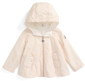 Infant Girl's Moncler Bluma Hooded Water Resistant Windbreaker Swing Jacket $190 thestylecure.com