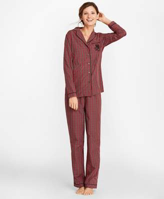 Brooks Brothers Tartan Cotton Poplin Pajama Set