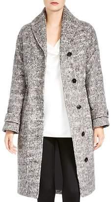 Halston Shawl-Collar Coat