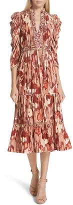 Ulla Johnson Ziggy Velvet Midi Dress