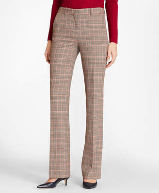 Brooks Brothers Houndstooth-Checked Stretch-Wool Pants