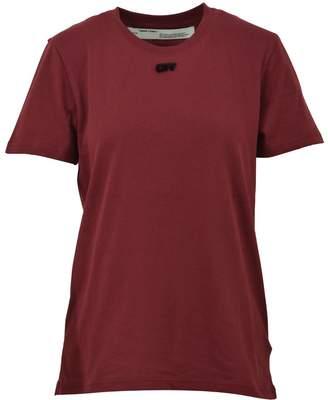 Off-White Off White Burgundy Cotton T-shirt