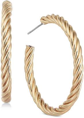 Charter Club Gold-Tone Twist Hoop Earrings