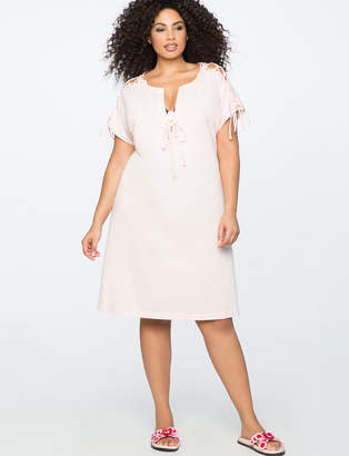 Lace Up Midi Swim Coverup