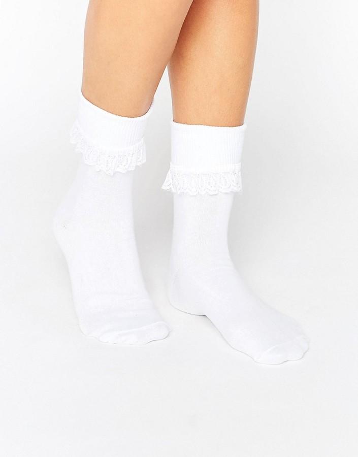 7X Frill Top Socks