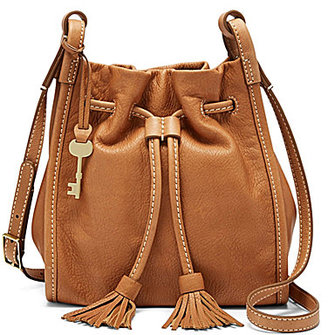 Fossil Claire Tasseled Drawstring Small Cross-Body Bag $168 thestylecure.com