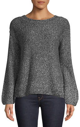 Style&Co. STYLE & CO. Petite Long-Sleeve Marl Sweater