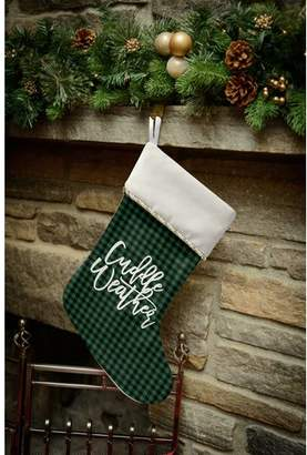 The Holiday Aisle Cuddle Weather Holiday Stocking with Single Sided Print