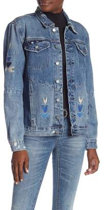 Blank NYC BLANKNYC Denim Embroidered Denim Jacket