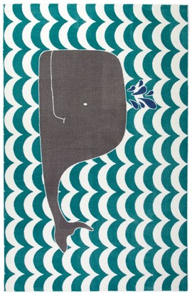 Blue Area Mohawk Home Oh Whale Rug - 5' x 8'
