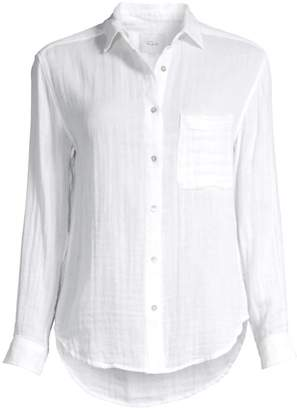 Rails Ellis Linen Button-Down Shirt
