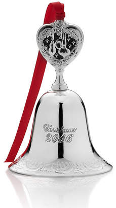 Wallace 2016 Silver Plated Bell Ornament, 22nd Edition