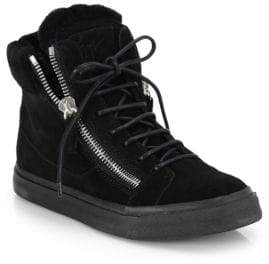 Giuseppe Zanotti Suede High-Top Platform Sneakers