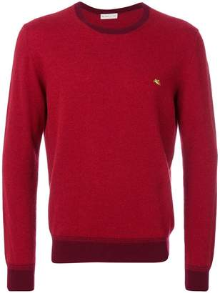 Etro contrasting crew neck sweater
