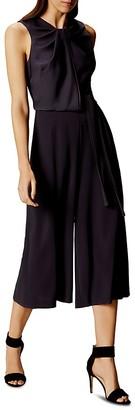 KAREN MILLEN Piped Culotte Jumpsuit $399 thestylecure.com