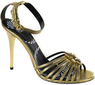 Roberto Cavalli Metallic Leather Sandal