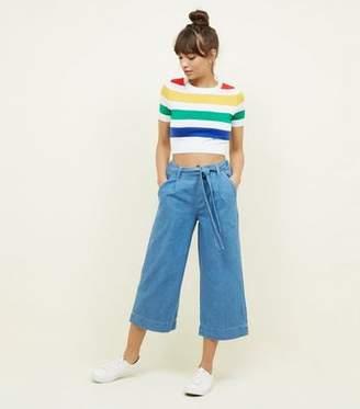 New Look Blue Lightweight Denim Culottes