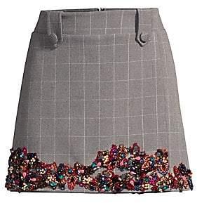 PatBO Women's Embellished Mini Skirt