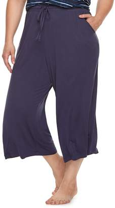 Sonoma Goods For Life Plus Size SONOMA Goods for Life Printed Crop Pajama Pants