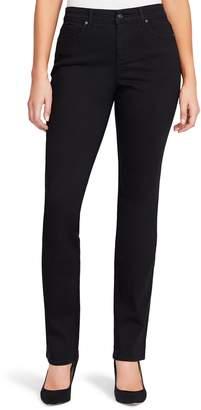 Gloria Vanderbilt Petite Rail Straight-Leg Mid-Rise Jeans