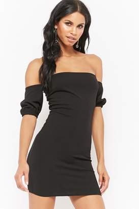 Forever 21 Off-the-Shoulder Bodycon Homecoming Dress