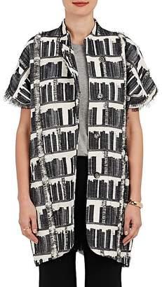 Zero Maria Cornejo Women's Edi Gilet Cotton-Blend Fil Coupé Jacket