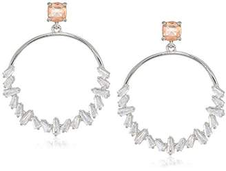 Carolee Blushing Bride Collection Women's Hoop Earrings