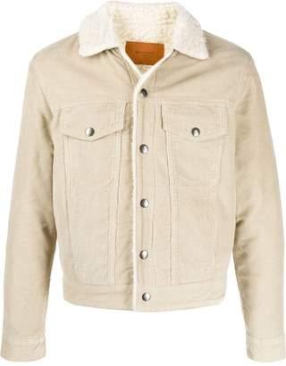 Paris shearling corduroy shirt jacket
