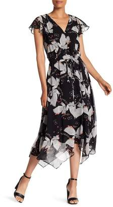 Rebecca Minkoff Harper Patterend Asymmetrical Hem Dress