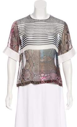 Preen by Thornton Bregazzi Silk Animal Print Top