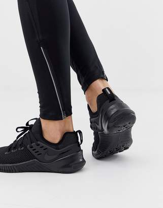 Nike Training metcon free sneakers in triple black