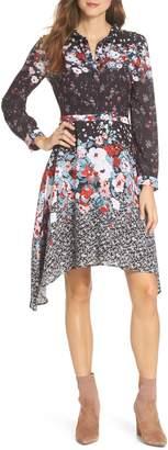 Julia Jordan Floral Print Shirtdress
