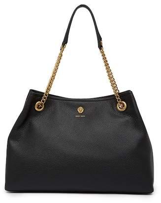Anne Klein Soft Chain Leather Tote Bag