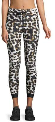 The Upside Leopard-Print Power Midi Leggings