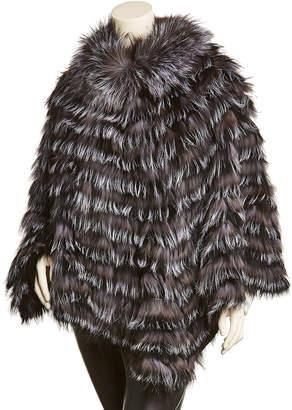 La Fiorentina Black & Grey Wool Poncho